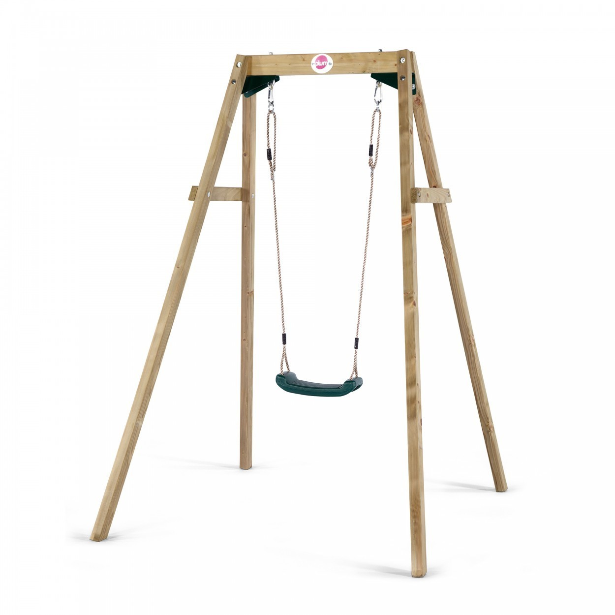Plum Wooden Single Swing