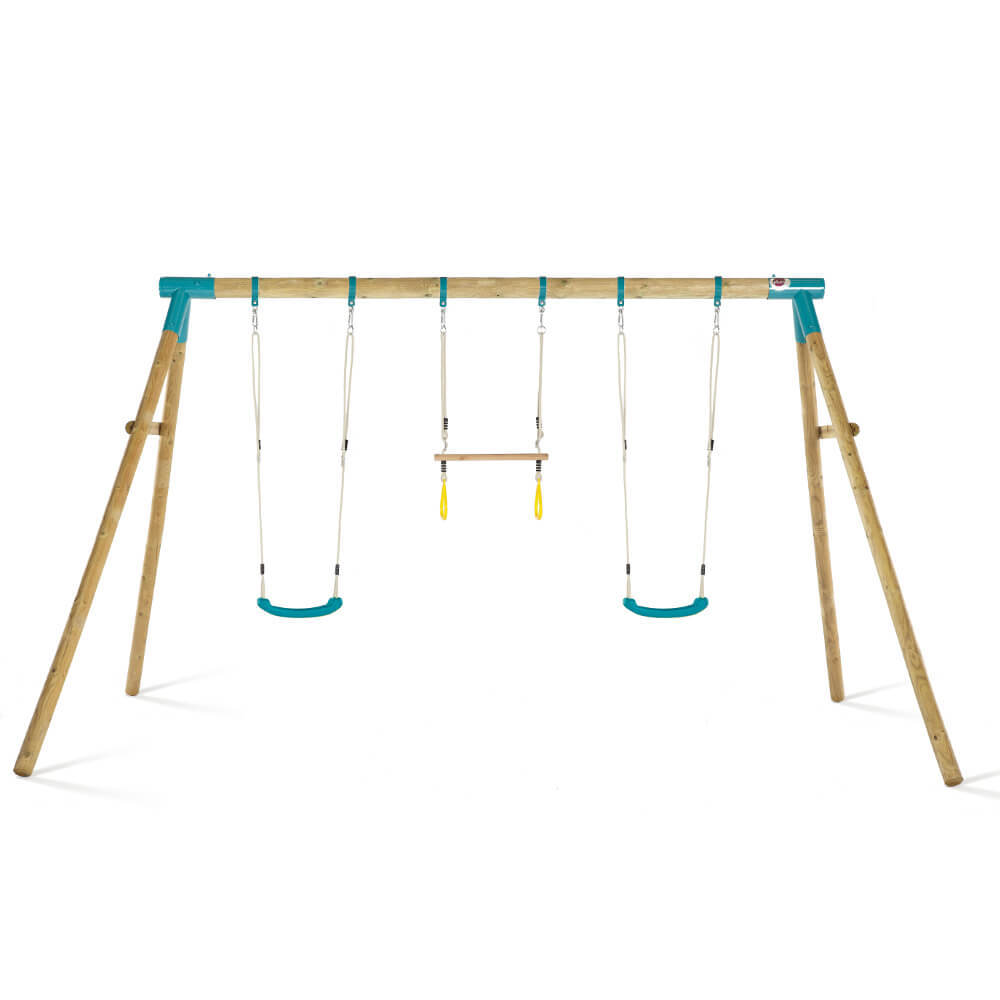 Plum Mangabey Wooden Swing Set