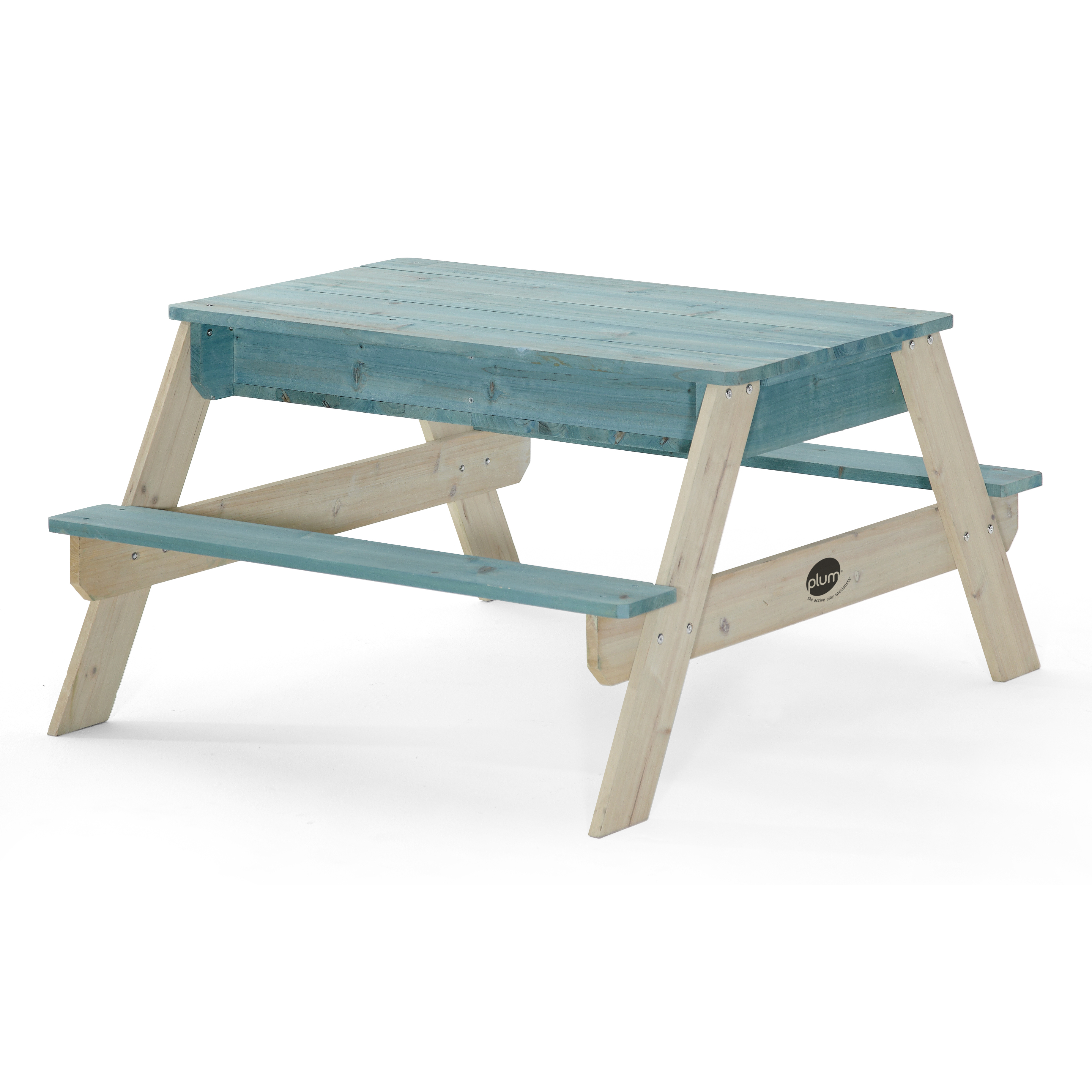 Plum Surfside Sand and Water Wooden Picnic Table Teal