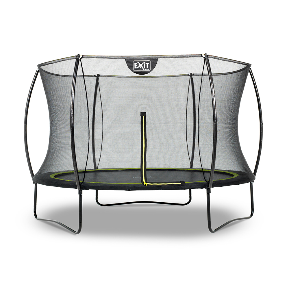 EXIT Toys Silhouette Black Edition Trampoline with Safety Net - 10ft