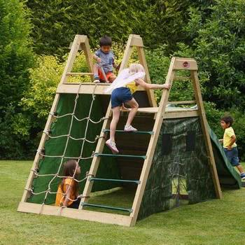 Plum Climbing Pyramid with Slide with FREE Protektamats (Pack of 2)