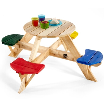 Plum Children's Circular Picnic Table with coloured seats - New Colours!