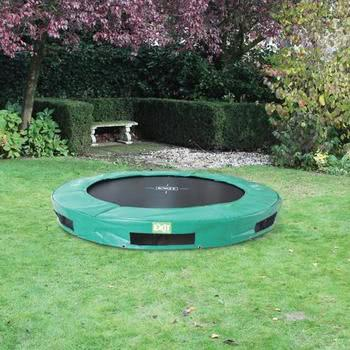 EXIT Toys InTerra Round Trampoline Green - 10ft