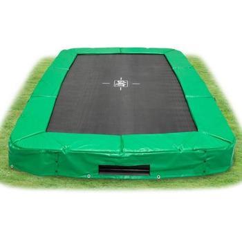 EXIT Toys InTerra Rectangular Trampoline Green