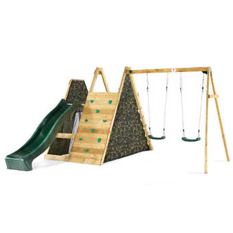 Plum Climbing Pyramid with Slide and Swings