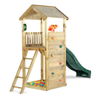 Plum Premium Wooden Lookout Tower  + FREE Protektamats (Pack of 2)