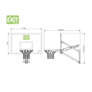 EXIT Toys Galaxy Basketball Net - Wall-Mounted