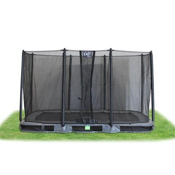 EXIT Toys InTerra Rectangular Trampoline Grey with Safety Net