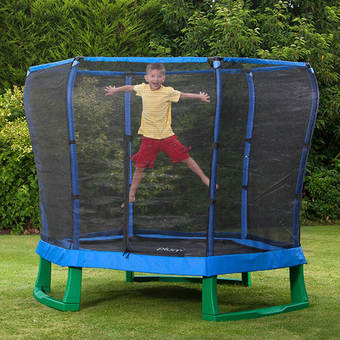 Plum 7ft Junior Jumper Trampoline - Blue and Green