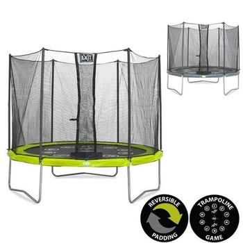 EXIT Toys Twist Trampoline (Green/Grey) - 8ft