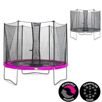 EXIT Toys Twist Trampoline (Pink/Grey) - 10ft