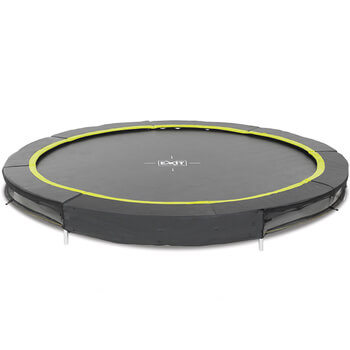 EXIT Toys Black Edition Ground Trampoline - 10ft