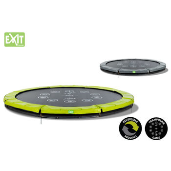 EXIT Toys Twist Ground  Trampoline (Green/Grey) - 10ft