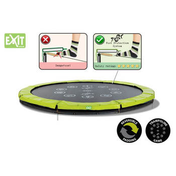 EXIT Toys Twist Ground  Trampoline (Green/Grey)