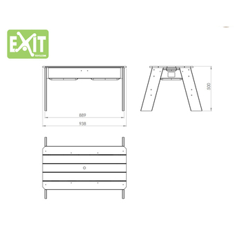 EXIT Toys Aksent Sand & Water Table