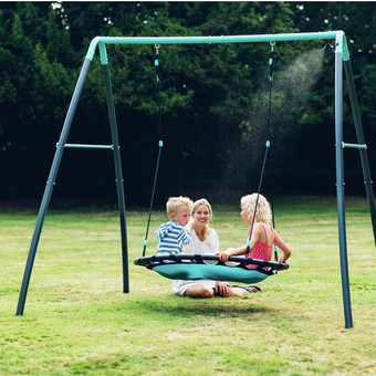 Plum Premium Metal Nest Swing with Mist
