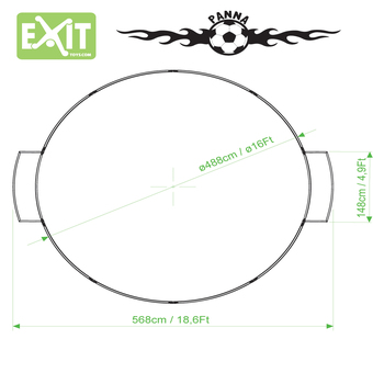 EXIT Toys Panna Arena Round with Surround Net