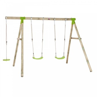Plum Loris Premium Wooden Swing Set