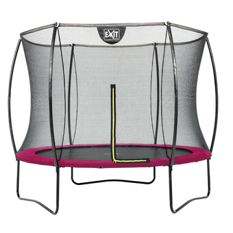 EXIT Toys Silhouette Pink Edition Trampoline with Safety Net