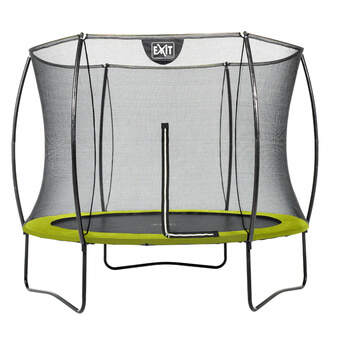 EXIT Toys Silhouette Lime Edition Trampoline with Safety Net