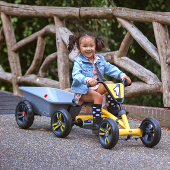 BERG Buzzy Go-Kart with Trailer Bundle with FREE Basket!