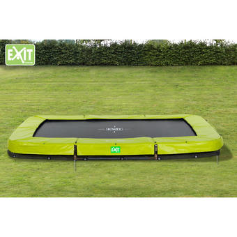 EXIT Toys Twist Rectangular In-Ground Trampoline - Green