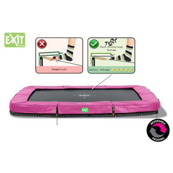 EXIT Toys Twist Rectangular In-Ground Trampoline - Pink