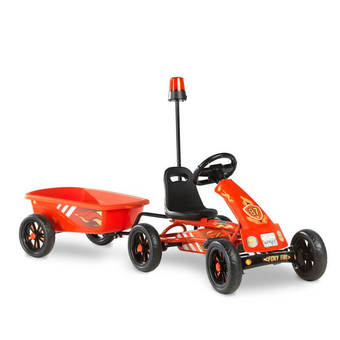 EXIT Toys Foxy Fire Pedal Go-Kart with Flashing Light