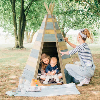 Plum Children's Wooden Teepee Hideaway