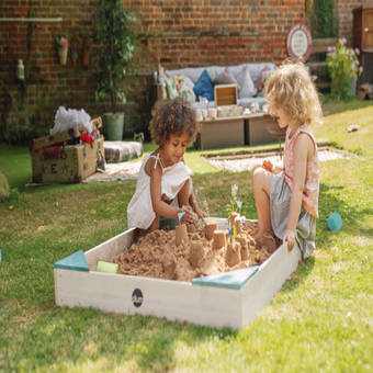Plum Junior Wooden Sandpit - Teal