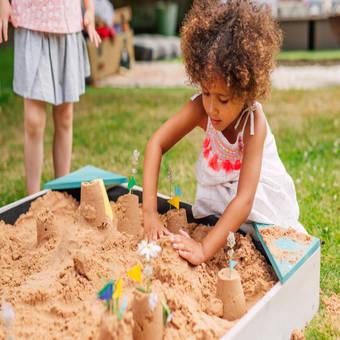 Plum Junior Wooden Sandpit - Teal
