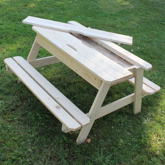 Soulet Wooden Sand and Picnic Table