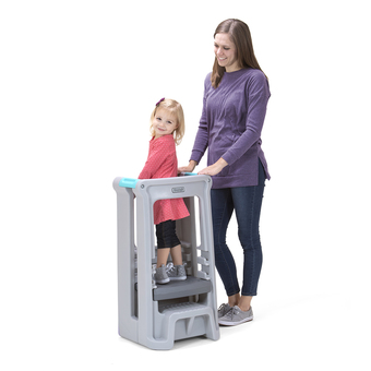 Simplay3 Toddler Tower Adjustable Stool - Grey