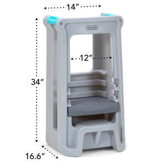 Simplay3 Toddler Tower Adjustable Stool - Grey