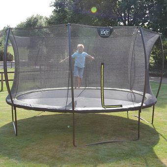 EXIT Toys Silhouette Black Edition Trampoline with Safety Net - 12ft