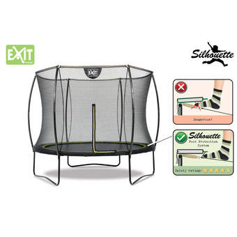 EXIT Toys Silhouette Black Edition Trampoline with Safety Net -14ft
