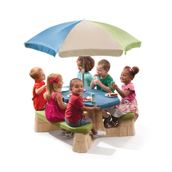 Step2 Naturally Playful Picnic Table with Umbrella- New Colours