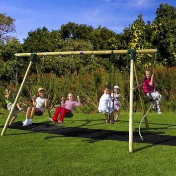 Plum Orang Utan Wooden Swing Set + FREE Protektamats (Pack of 2)
