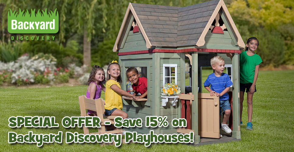Find a summer hideaway with Backyard Discovery!