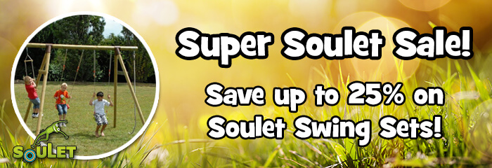 Up to 25% Off Soulet Swing Sets!