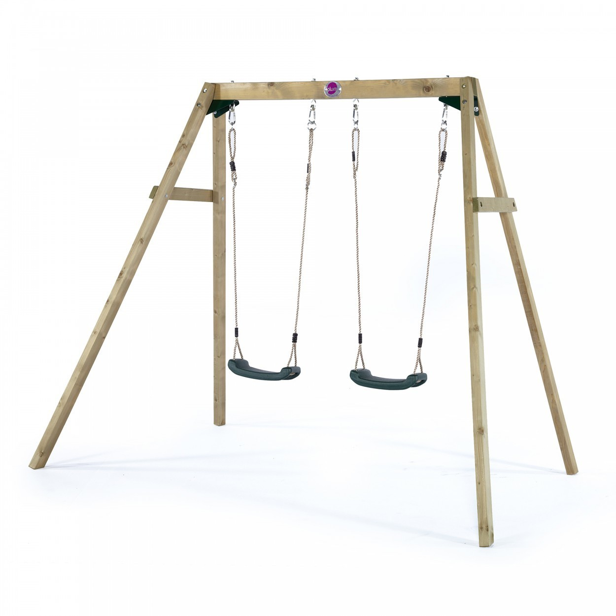 Plum Double Wooden Swing with FREE Protectamats (Pack of 2)