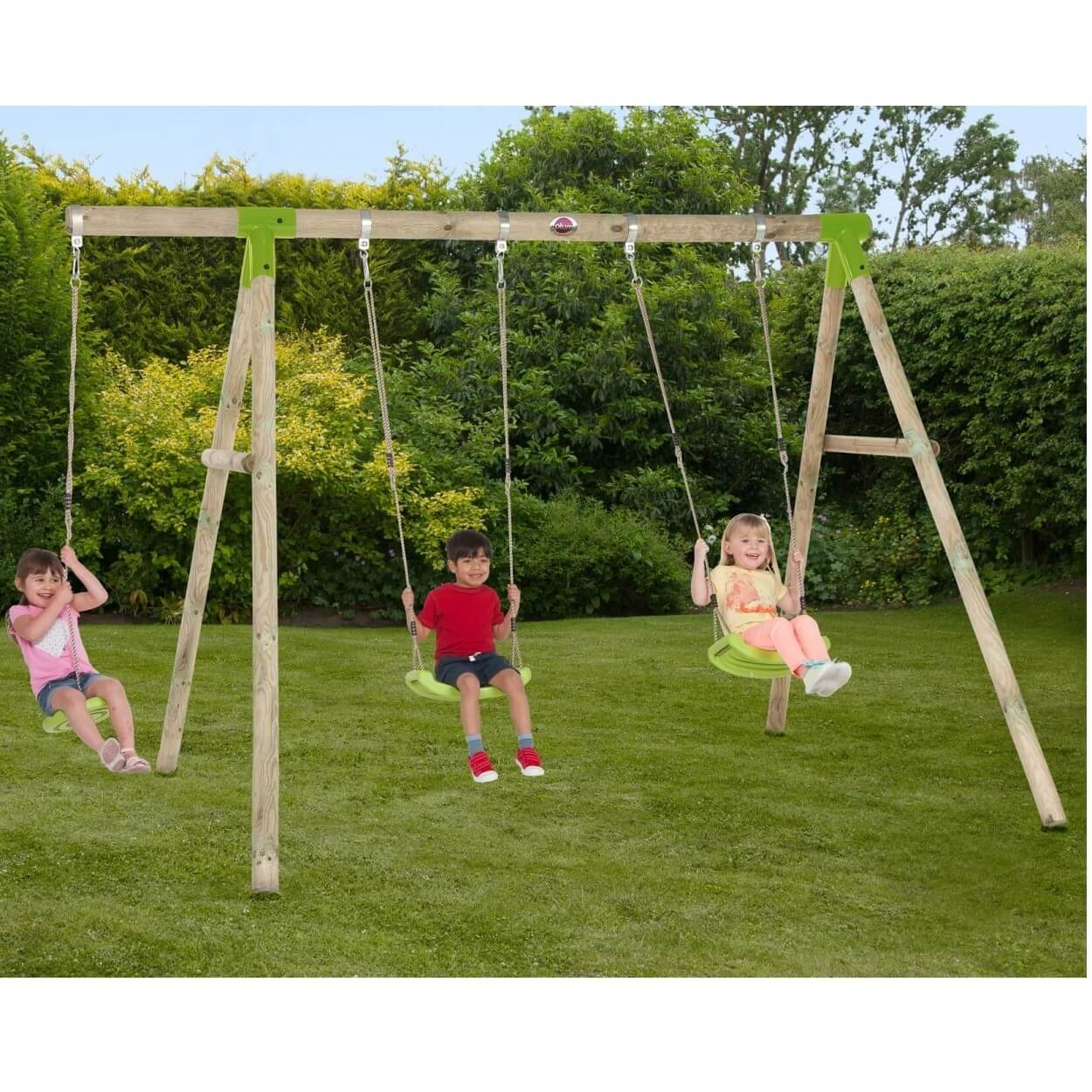 Plum Loris Wooden Swing Set with FREE Protekamats (Pack of 2)