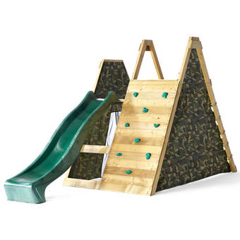 Climbing Pyramid Wooden Play Centre with 8ft Slide