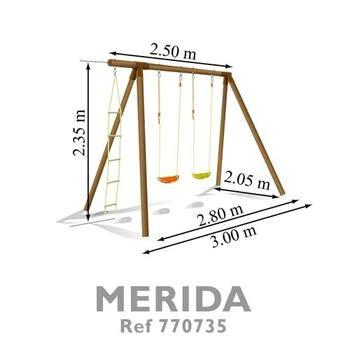 Soulet Merida Wooden Swing Set