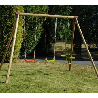 Soulet Pinede Wooden Swing Frame