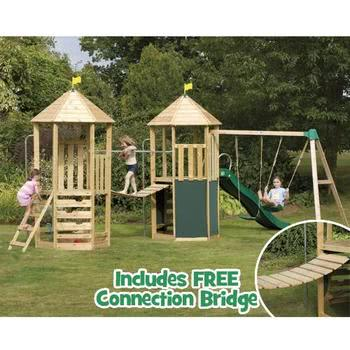 TP Castlewood Two Towers playset with FREE Connection Bridge