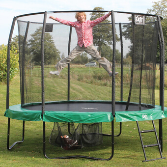 EXIT Toys JumpArena All-in one Round Trampoline with Green/Grey Padding