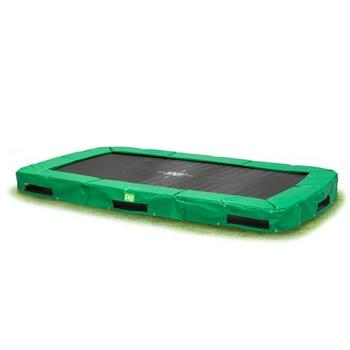 EXIT Toys InTerra Rectangular Trampoline Green