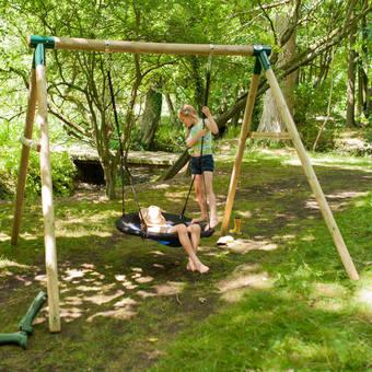Plum Spider Monkey II Swing Set