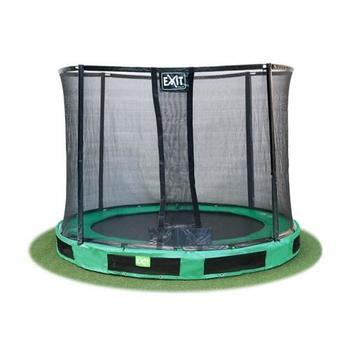 EXIT Toys InTerra Round Trampoline Green with Safety Net